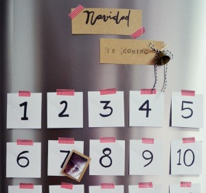 calendario adviento diy